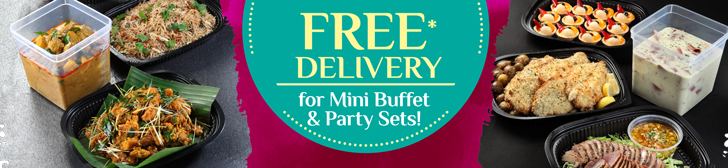 Free Delivery For Mini Party Sets & Mini Buffets
